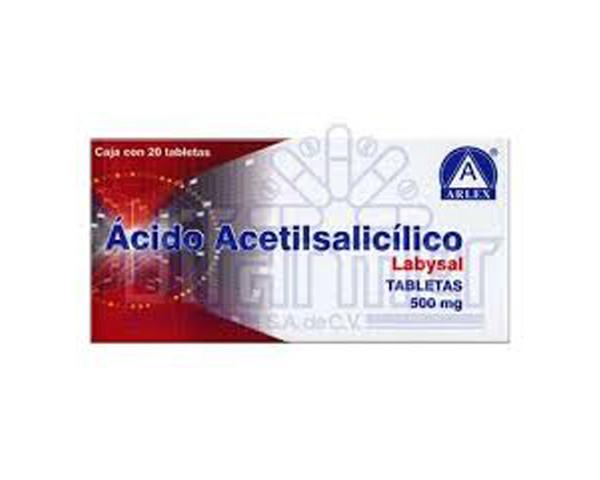 Ácido acetilsalicílico 500 mg Distribuidora Fàrmacs